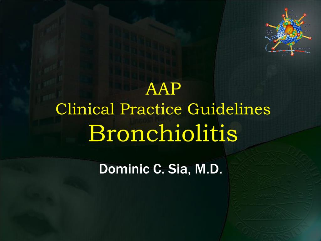 aap clinical practice guidelines bronchiolitis l.