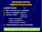 inverse ratio ventilation irv14