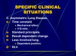 specific clinical situations58