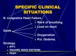 specific clinical situations59
