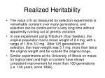 realized heritability