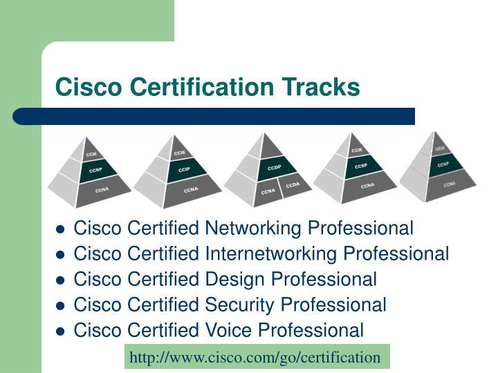 Cisco certification tracks