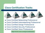cisco certification tracks
