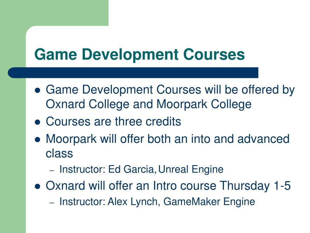 Game Development Courses