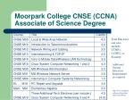 moorpark college cnse ccna associate of science degree
