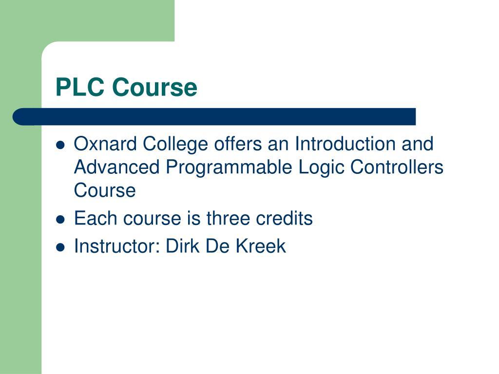 PLC Course