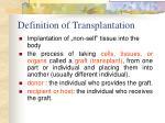 definition of transplantation