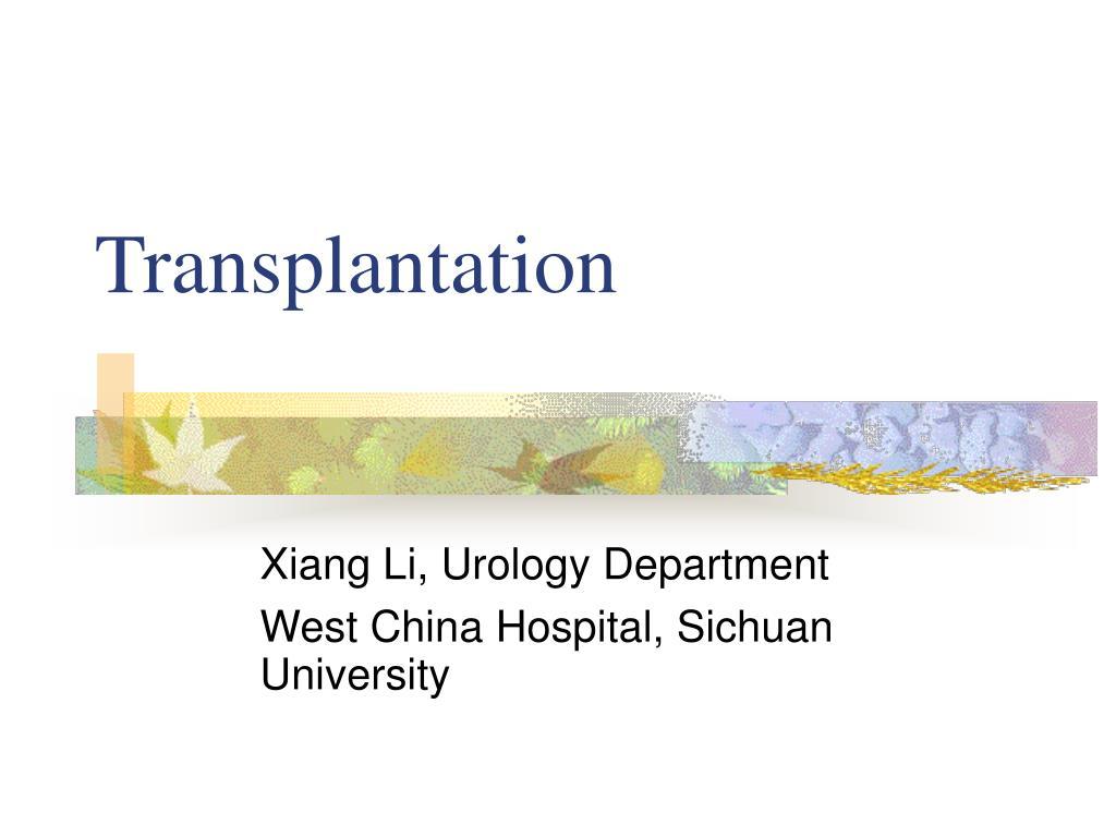 transplantation l.