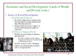 economic and social development lands of wealth and poverty cont38