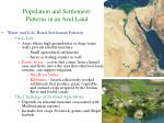 population and settlement patterns in an arid land11