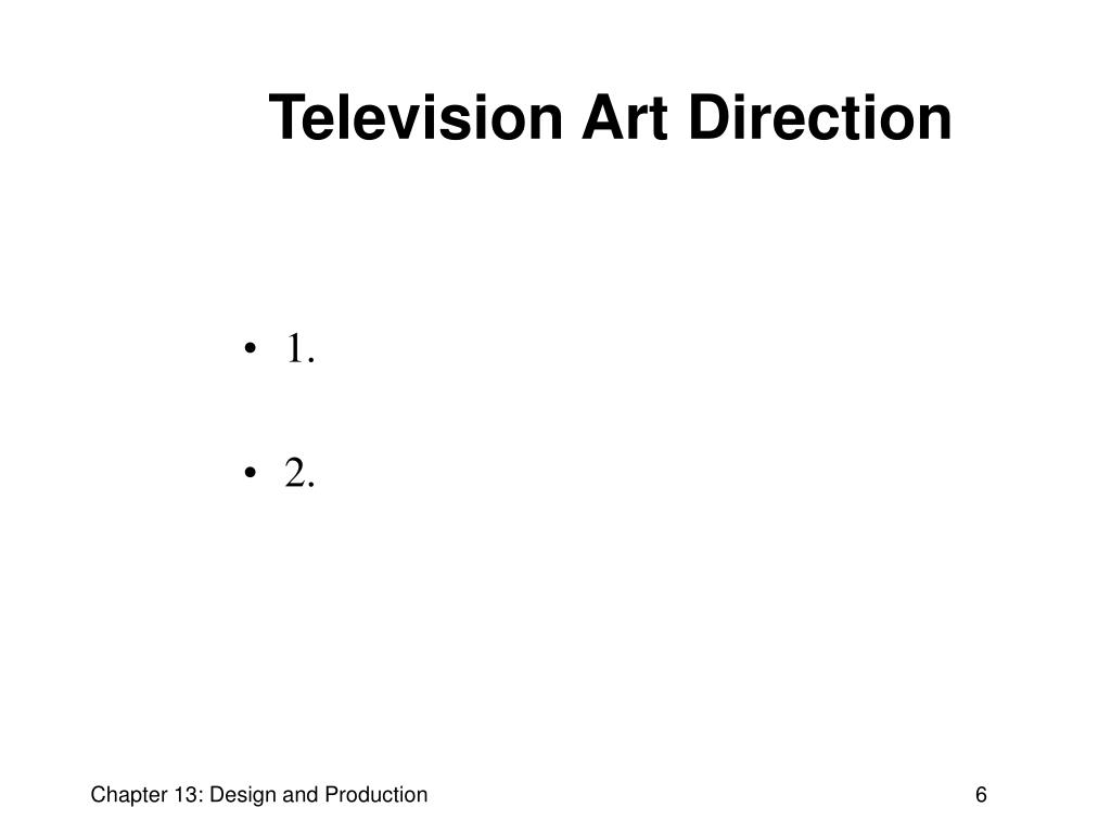 Television Art Direction