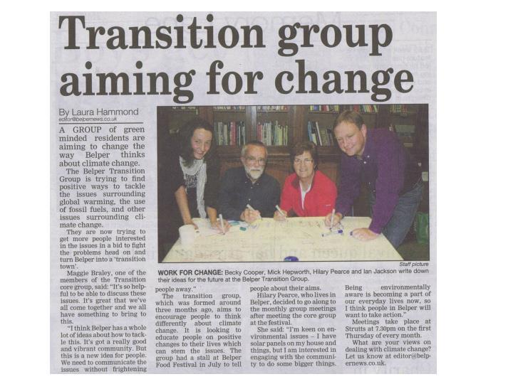Transition belper meeting 7 october 2010