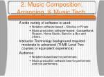 2 music composition arranging music tech