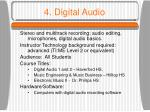 4 digital audio
