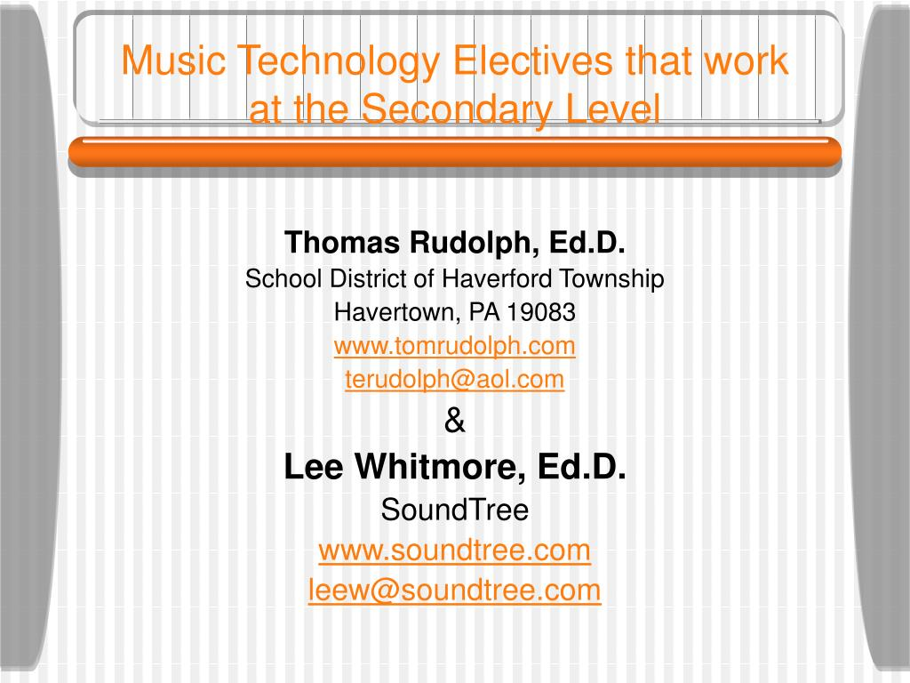 music technology electives that work at the secondary level l.