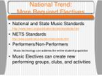 national trend more required electives