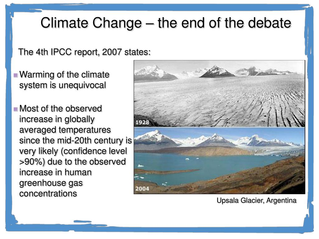 Climate Change – the end of the debate