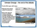 climate change the end of the debate