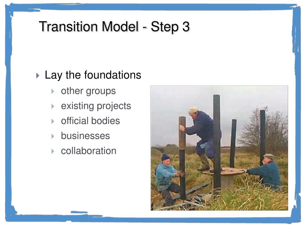 Transition Model - Step 3