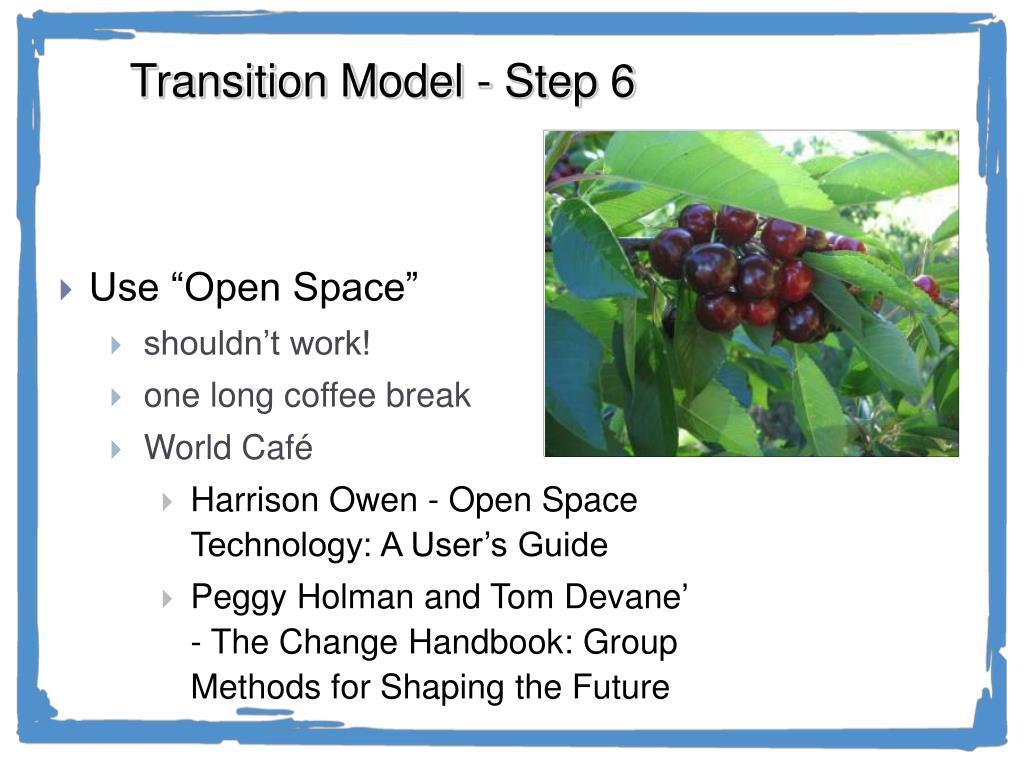 Transition Model - Step 6
