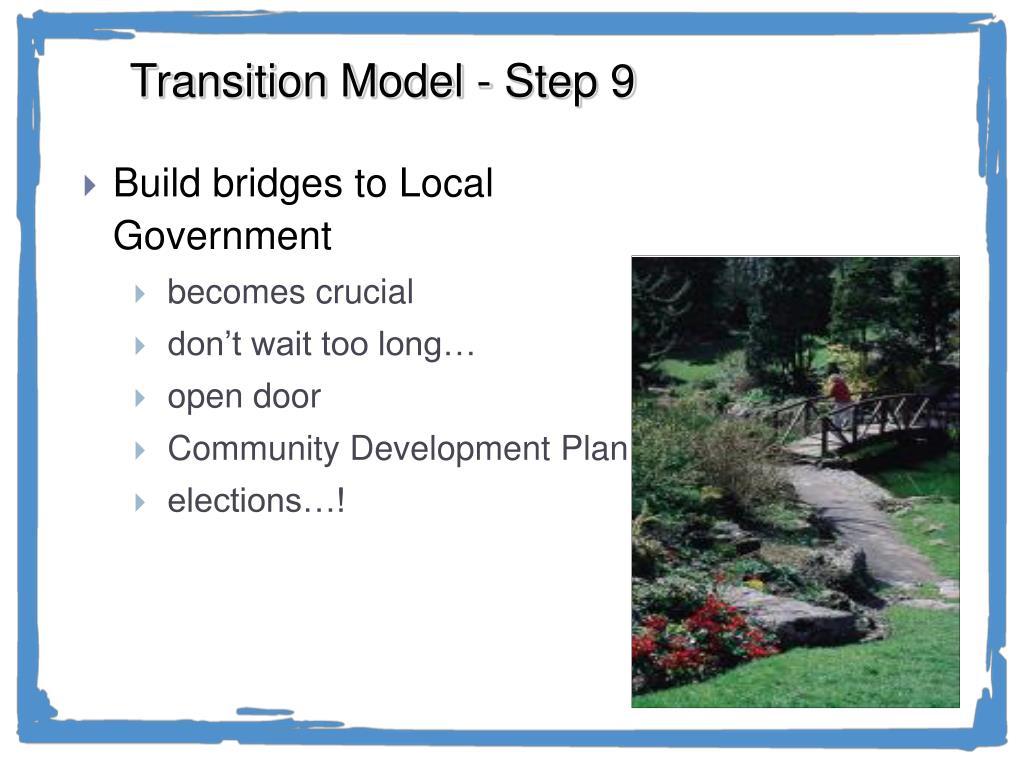 Transition Model - Step 9