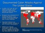 documented cyber attacks against the united states