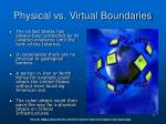 physical vs virtual boundaries