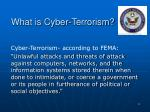 what is cyber terrorism