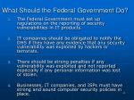 what should the federal government do