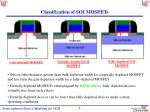classification of soi mosfets