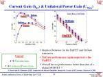 current gain h 21 unilateral power gain u max