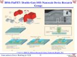 ibms finfet double gate soi nanoscale device research group