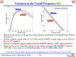 variation in the cutoff frequency f t