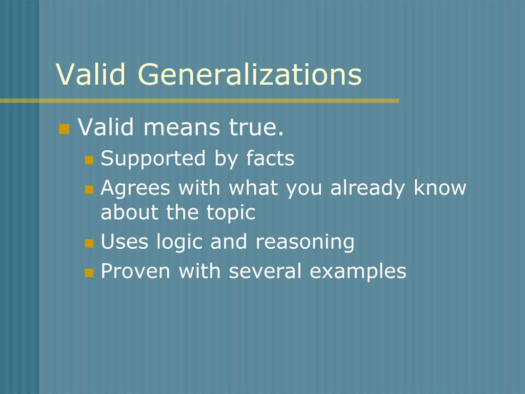 PPT - Making Generalizations PowerPoint Presentation - ID:220086