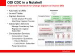 odi cdc in a nutshell a general framework for change capture on source dbs