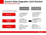 oracle s data integration joint solution best of breed and proven
