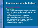 epidemiologic study designs17