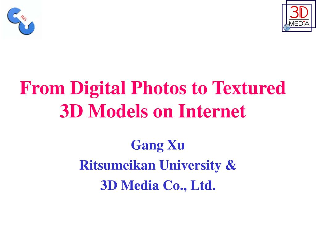 from digital photos to textured 3d models on internet l.