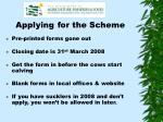 applying for the scheme