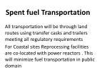 spent fuel transportation