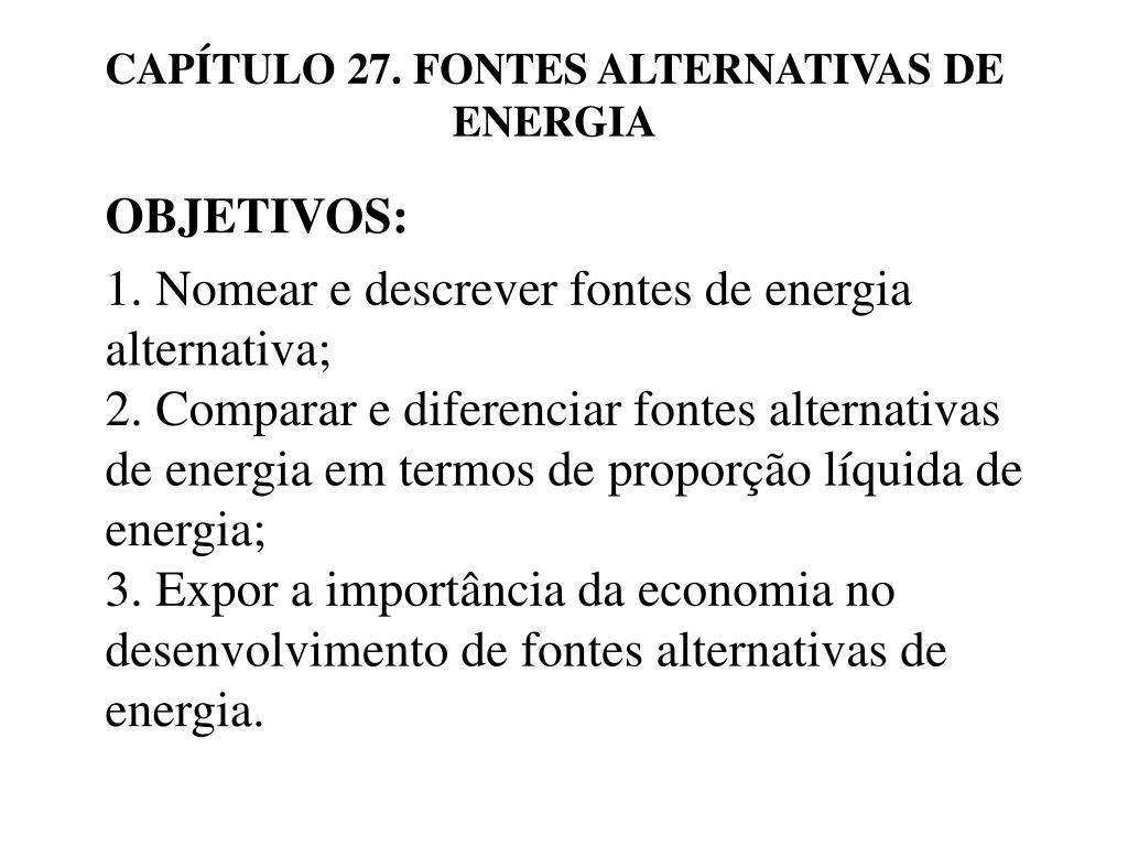 cap tulo 27 fontes alternativas de energia l.