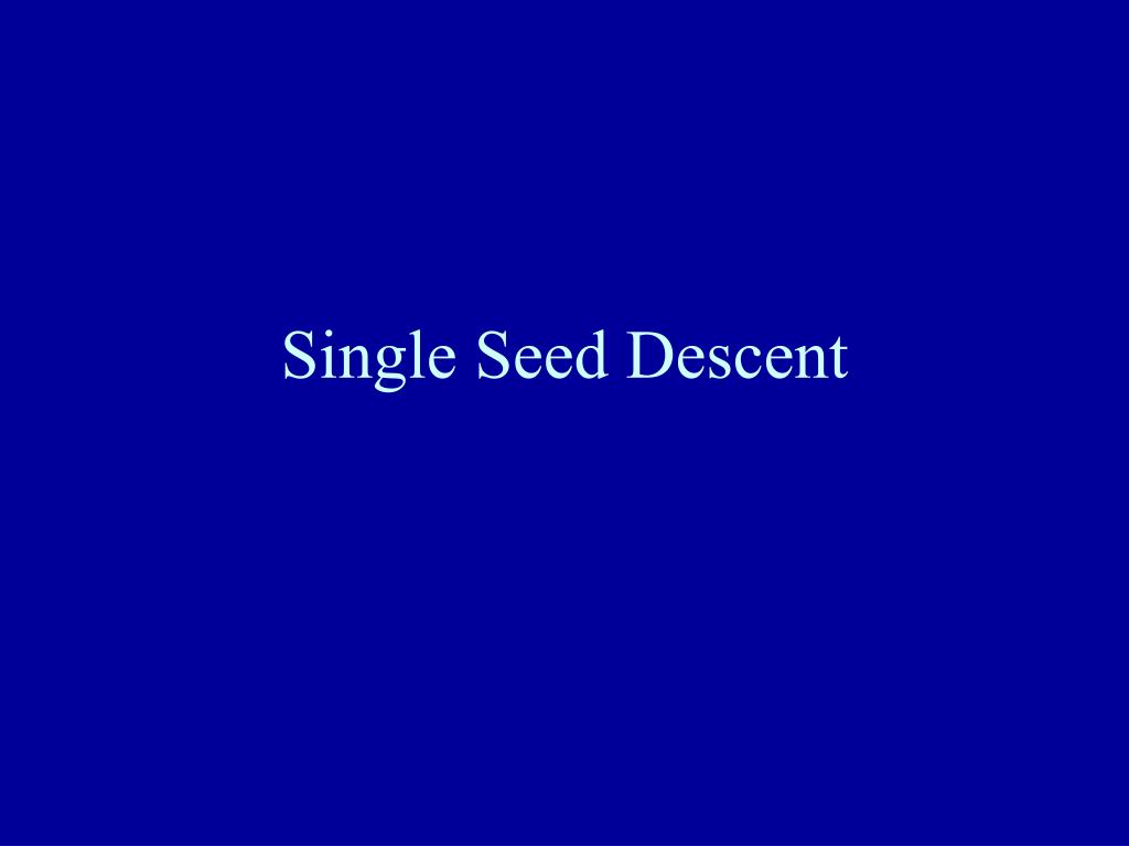 single seed descent l.