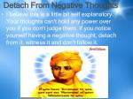 detach from negative thoughts