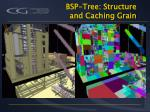 bsp tree structure and caching grain