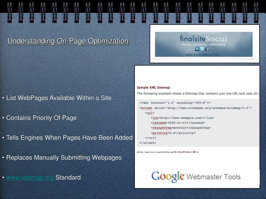 Understanding On-Page Optimization