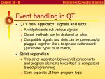 event handling in qt