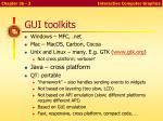 gui toolkits