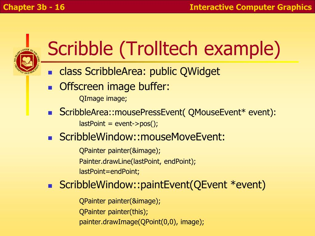 Scribble (Trolltech example)