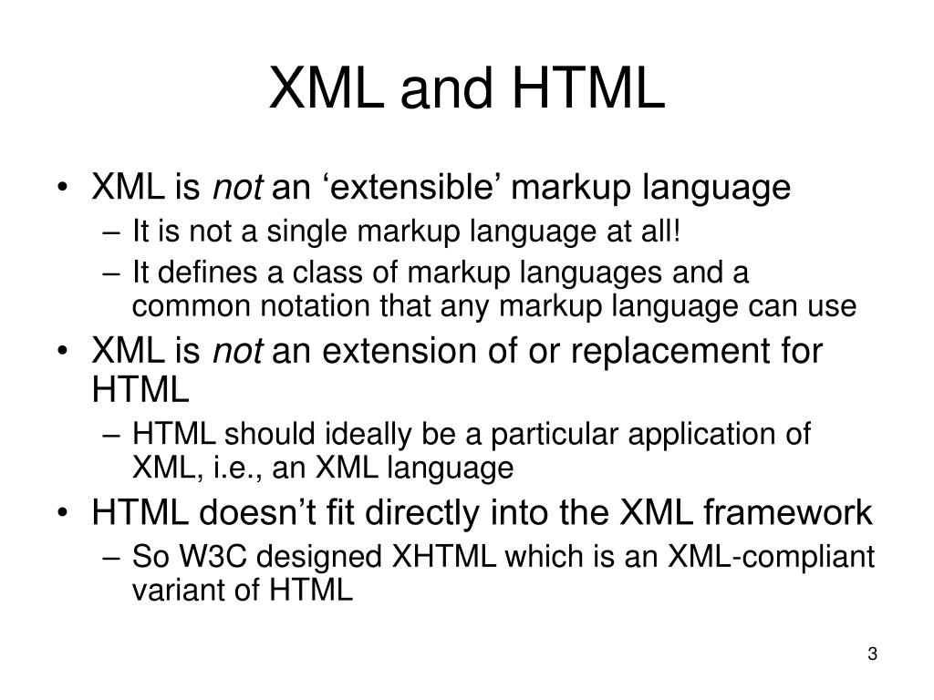 XML and HTML