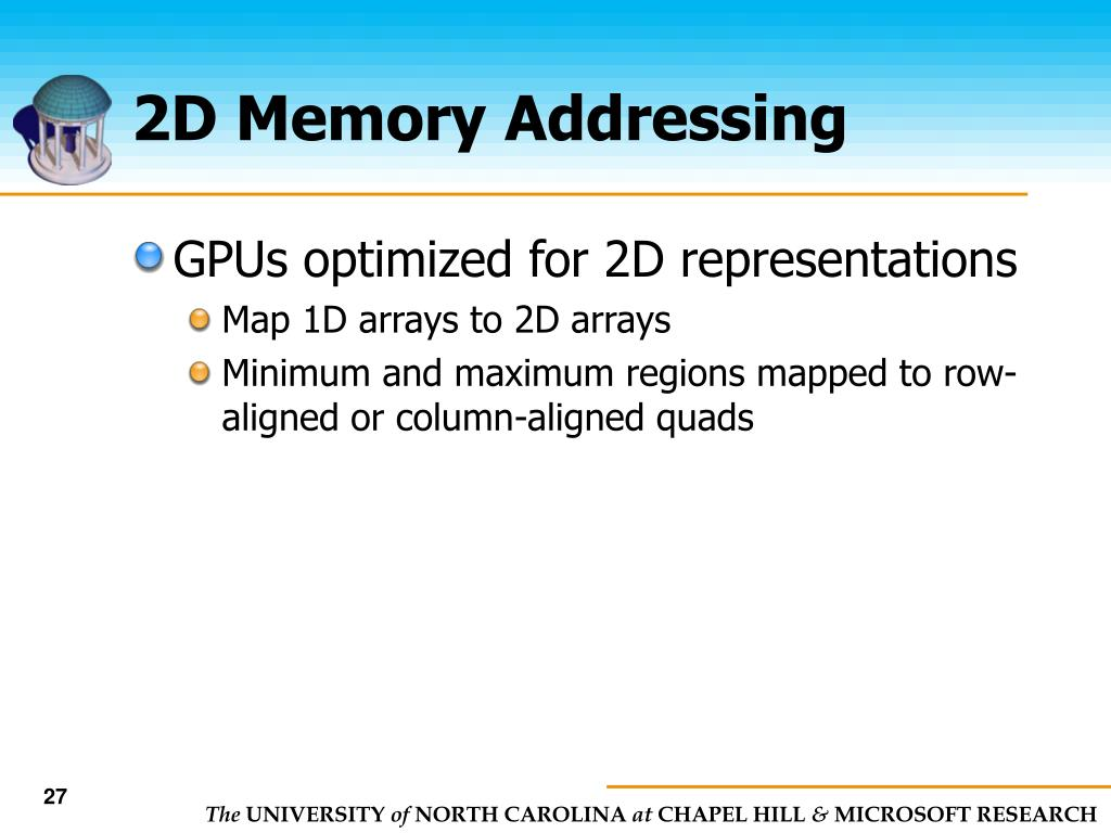 2D Memory Addressing